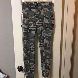 J Crew skinny cargo camo pants